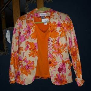 Susan Graver blazer with sleeveless top Sz 8